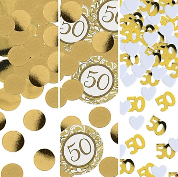 Golden 50th Wedding Anniversary Confetti