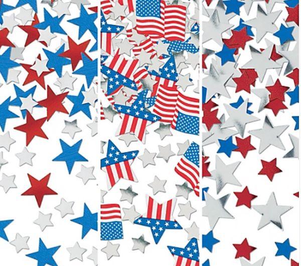 Patriotic American Flag Confetti