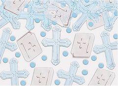 Blue Cross Religious Foil Confetti