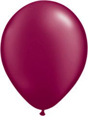"PEARLIZED 06 BURGANDY, QUALATEX 11"" LATEX BALLOON 