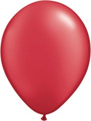 "PEARLIZED 07 RUBY RED, QUALATEX 11"" LATEX BALLOON 