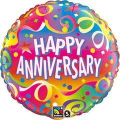 """Anniversary Confetti Balloon 18"""""""