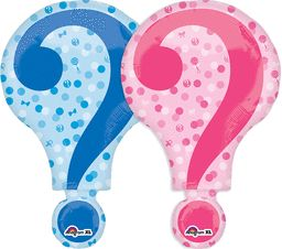 "28"" Gender Reveal Question Mark Balloon"