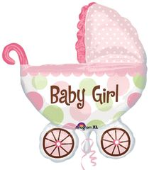 "Baby Girl Buggy-Super Shape Balloon 31"""
