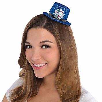 Mini Glitter Top Hat - Blue