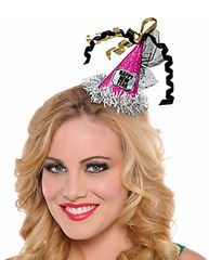 Happy New Year Cone Hat Hair Clip - Jewel Tone