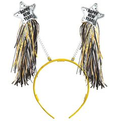 New Year Tinsel Headbopper - Black, Silver, Gold