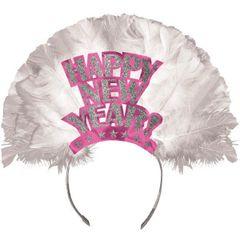 Happy New Year Tiara - Pink