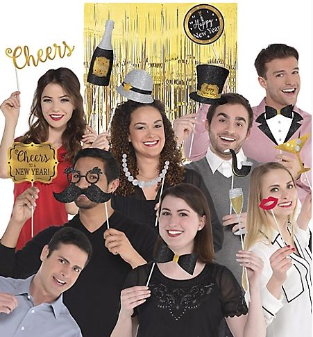 New Year's Deluxe Photo Props Party Kit, 21pc