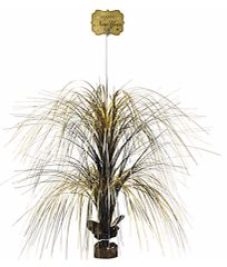 New Year's Black, Silver, Gold Large Spray Centerpiece