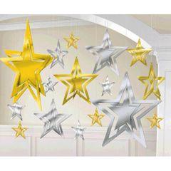 3-D Foil Star Silver Gold Decorating Kit
