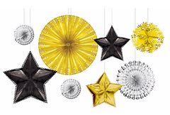 Foil Starburst Decorating Kit - Black, Silver & Gold, 8ct