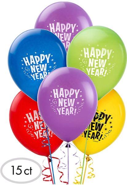 Happy New Year Latex Balloons - Jewel Tone, 15ct