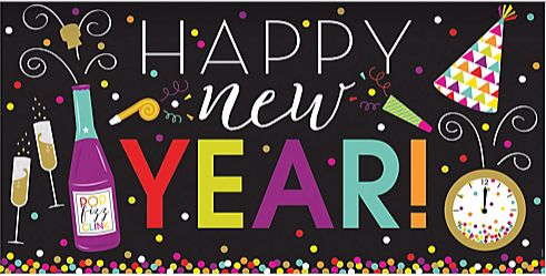 New Year's Large Horizontal Banner - Jewel Tone