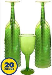 Big Party Pack Kiwi Wine Glass, 10oz - 20ct