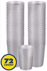 Big Party Pack Silver Plastic Cups, 9oz - 72ct