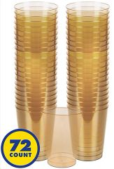 Big Party Pack Gold Plastic Cups, 10oz - 72ct