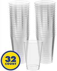 Big Party Pack Clear Plastic Tumblers, 14oz - 32ct