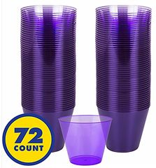 Big Party Pack Plastic Cup New Purple, 9oz - 72ct