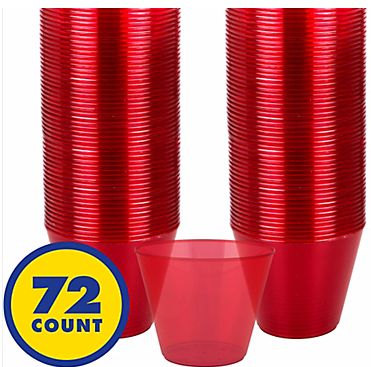 Big Party Pack Red Plastic Cups, 9oz - 72ct