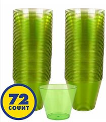 Big Party Pack Kiwi Green Plastic Cups, 9oz - 72ct