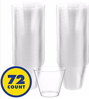 Big Party Pack CLEAR Plastic Cups, 9oz - 72ct
