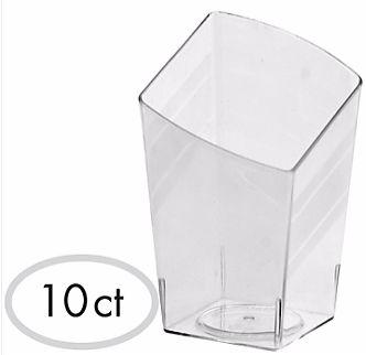 Mini Slanted Tumbler - Clear, 10ct