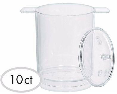Mini Pots w/Lids - Clear