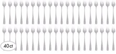 "CLEAR Plastic Mini Forks , 4"" - 40ct"