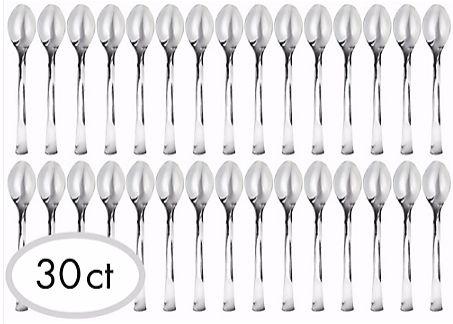 Mini Spoons Hi-Ct. - Silver, 30ct