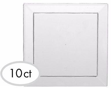 "CLEAR Plastic Mini Appetizer Plates, 5"" - 10ct"