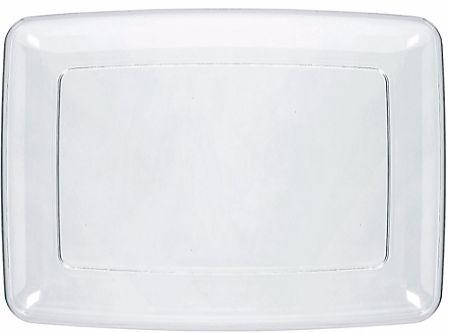 CLEAR Plastic Rectangular Platter