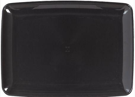 Black Plastic Rectangular Platter