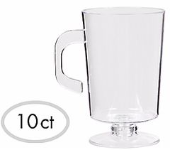 Mini CLEAR Plastic Coffee Cups, 10ct