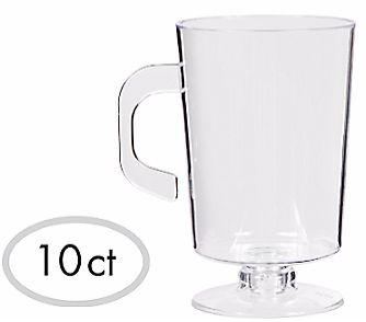 Mini CLEAR Plastic Coffee Cups, 10ct