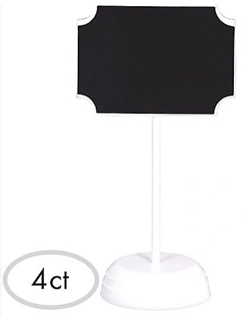 Label Chalkboard Signs, 4ct
