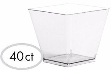Clear Mini Plastic Cube - High Count, 2oz - 40ct