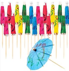 Cocktail Umbrella Assorted Picks, 20ct