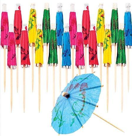 Cocktail Umbrella Assorted Picks, 20ct