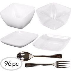 Mini Plastic Appetizer Set, 96pc