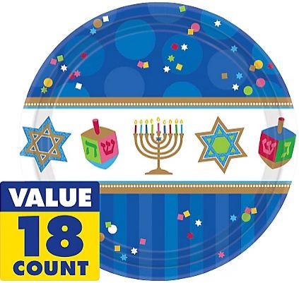 "Hanukkah Celebrations Plates, 7"""