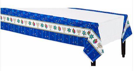 Hanukkah Celebrations Plastic Table Cover