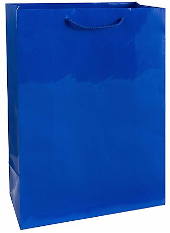 Solid Glossy Bright Royal Blue Extra Large Bag