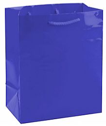 Solid Glossy Bright Royal Blue Medium Bag