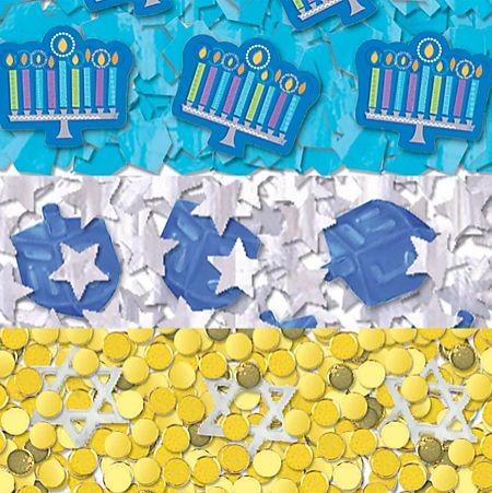Hanukkah Icons Paper & Foil Confetti Value Mix