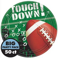 "Football Frenzy Lunch Plates, 9"" - 50ct"