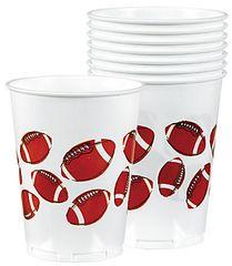 Football Fan Plastic Cups, 14 oz.