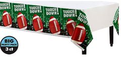 Football Frenzy Plastic Table Covers, 3ct