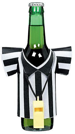 Referee Foam Drink Kozy w/Plastic Whistle