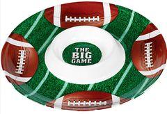 Football Chip & Dip Plastic Tray